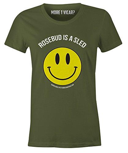 More T Vicar Rosebud is a Sled - DamenT Shirt