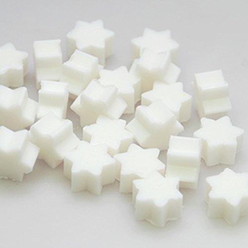 Florex, Lot de 50 mini savons au lait de brebis en forme d'étoile dans un sachet en organza