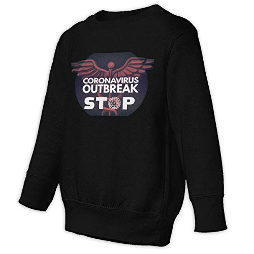 Unbrands Youth Art Design Coronavirus Outbreak Stop Cotton Sweatshirts Hoodies Without Pockets