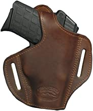Barsony Brown Leather Pancake Holster for 380 and Small 9mm 40 45 (Kimber Micro 9mm, Right)