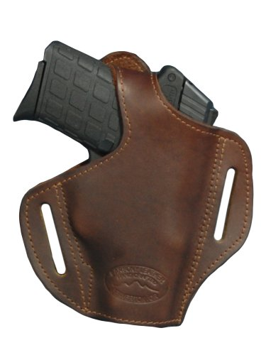 Barsony Brown Leather Pancake Holster for 380 and Small 9mm...