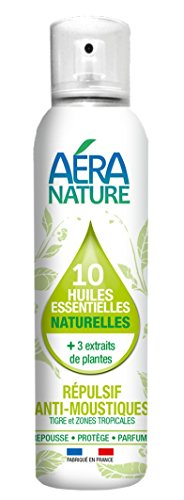 AERA NATURE : Répulsif Naturel anti-moustiques (espèce TIGRE et communs.) Air & Textiles, 100ml, by Laboratoire Columbus Natura