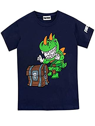 Fortnite Boys T-Shirt Blue Age 7 to 8 Years