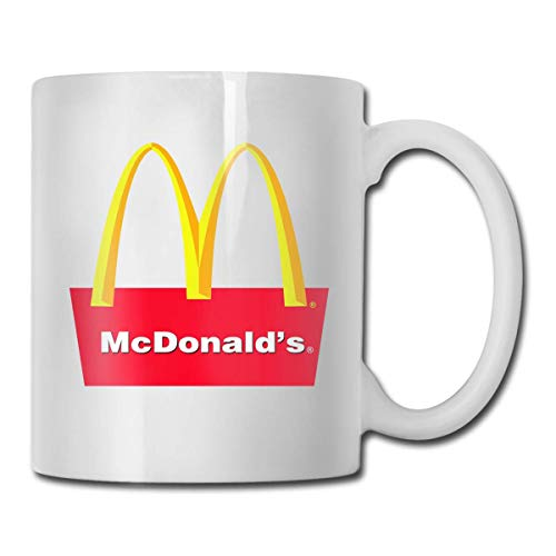 DHGER Neue angepasste Mcdonalds Logo Tasse für heißes/kaltes Getränk Kaffee oder Tee für Frauen