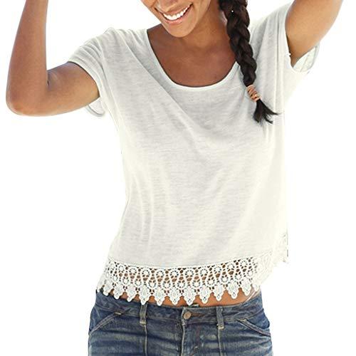 DIPOLA Damen lose Panel Ausschnitt Kurzarm Top lässig Sommer einfarbig Kurzarm Urlaub Strand Top T-Shirt Shirt (schwarz, weiß, grün)