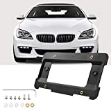 JoyTutus Rear License Plate Bracket Frame Mount Tag Holder Compatible with 1 to 6 Series Car Accessories Replacement Part 51187160607& 51188238061