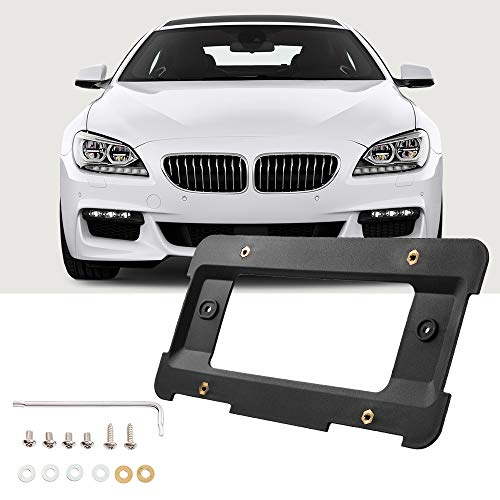 JoyTutus Rear License Plate Bracket Frame Mount Tag Holder Compatible with 1 to 6 Series Car Accessories Replaces 51187160607& 51188238061