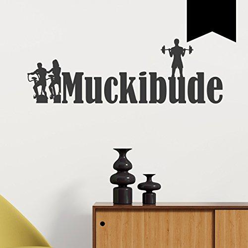 Wandkings Wandtattoo Muckibude 50 x 16 cm schwarz - erhältlich in 33 Farben