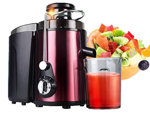 Sappers, langzaam, multifunctioneel, automatische sapcentrifuge voor citrusvruchten, compact, fruit- en groentefontein in het midden rood 300 W 1,75 L
