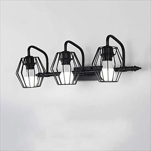 Aplique de Pared Espejo Minimalista Moderno Lámpara de Pared de Metal Nórdico Hueco Led Lámpara de Pared de Baño Porche Escaleras Linterna, C-L, 3 luces