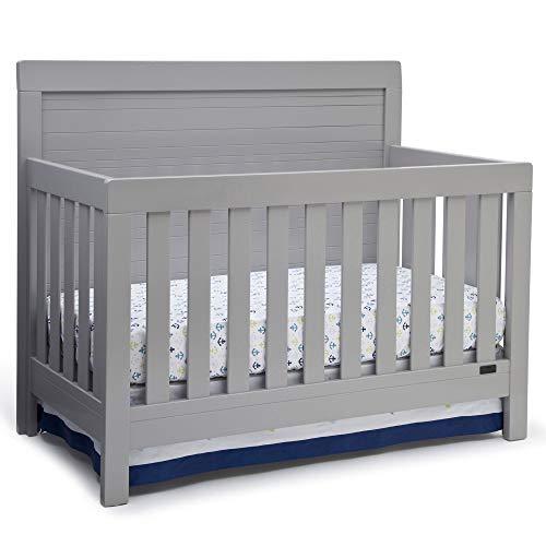 Simmons Kids SlumberTime Rowen 4-in-1 Convertible Baby Crib, Grey