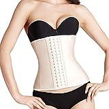 PLUMBURY® Women's/Men' Shapewear 9 Steel Bone 100% Latex Waist Trainer Tummy Control Post
