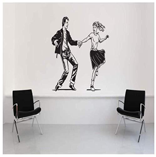 Pudelrock Niedliche Wand Applique Sattel Schuhe 50Er Jahre Stil Kunst Wandaufkleber Home Wohnzimmer Dekoration Vinyl Wallpaper 56X69Cm