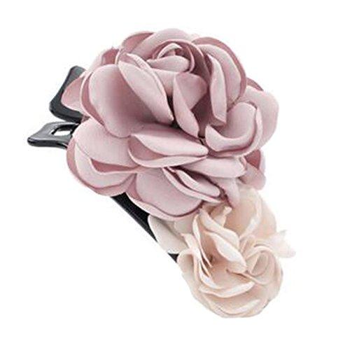 Mesdames Elegant Handmade cheveux clip Clip Clip de la fleur, Rose