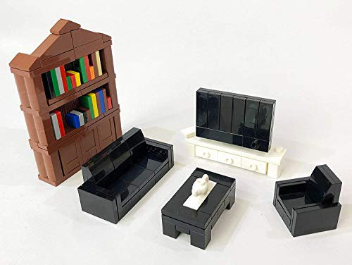 Brick Loot Building Blocks Furniture Minifigure Accessory Block Building Set  236 pcs  Compatible with and Fits LEGO and All Major Brands