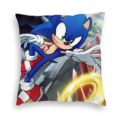 Leila Marcus - Fundas de almohada de terciopelo súper cómodas, ligeras, super Smash Bros Fan Art, novedosas fundas de cojín con cremallera para la sala de juegos de verano del coche de 50,8 x 50,8 cm (20 pulgadas)