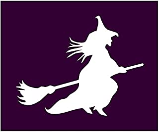 Auto Vynamics - STENCIL-WITCH-02 - Classic Witch Flying On Broom Individual Stencil from Detailed Witches & Witchcraft Stencil Set! - 10-by-8.5-inch Sheet - Single Design