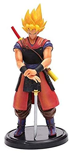 LHAHGLY Modelo de Personaje de Anime, Dragon Ball Anime Figura 22 cm Samurai Son Goku Estatua Modelo Coleccionables Recuerdo Decoraciones Marioneta Son Goku, Juguetes para niños Dragon Ball