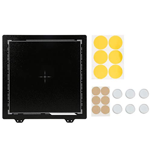 EVTSCAN Textured PEI Powder Steel Sheet + 6Pcs Magnetic Sticker Black for ENDER-3/3S/3Pro/5