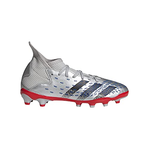 adidas Predator Freak .3 MG J, Zapatillas de ftbol, Silver Met Core Black Team Royal Blue, 36 2/3 EU