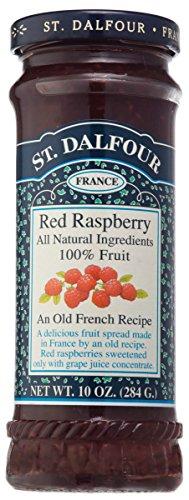 St. Dalfour - fruta extensión 100% Natural mermelada frambuesa roja - 10 oz.