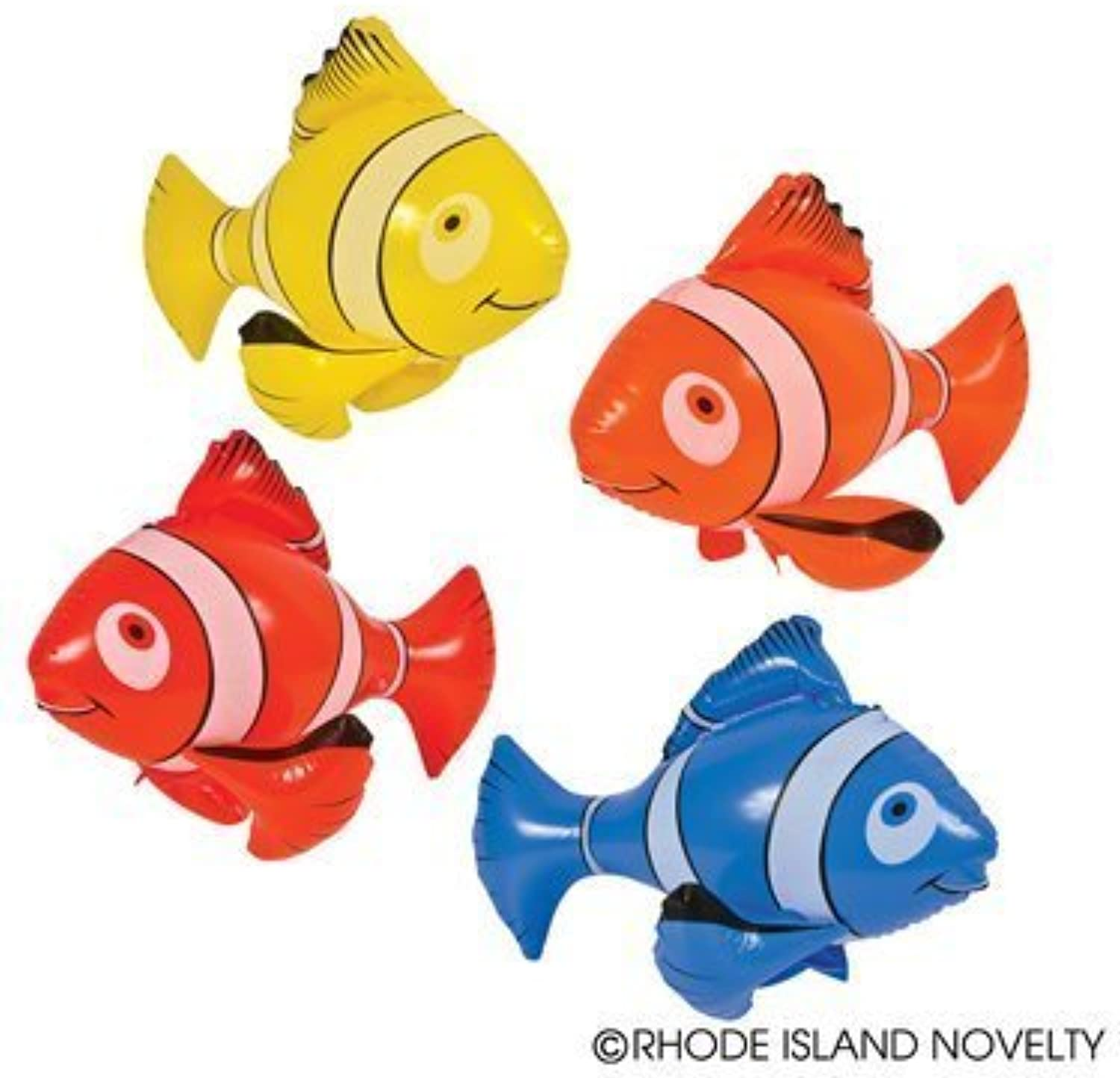 4 colorful Inflatable Clownfish 24    Party Favor   Clown Fish   Decoration   Nemo by RINCO