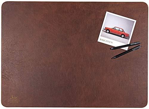 Centaur - Hochwertige Schreibtischunterlage Leder 40 x 60cm nussbraun für Bürotisch - handgefertigte Schreibunterlage aus Leder - Edel Schreibtisch Unterlage