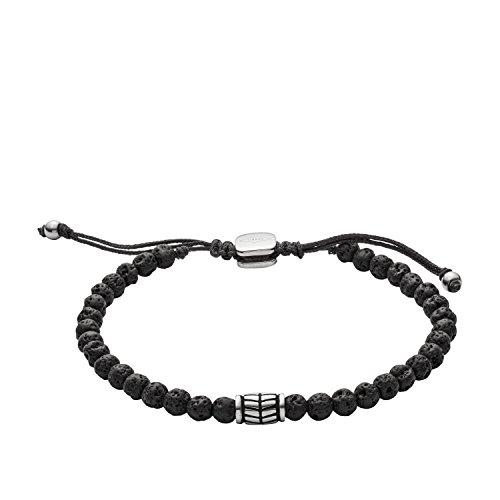 Fossil Men\'s Black Semi-Precious Bracelet JF02887040