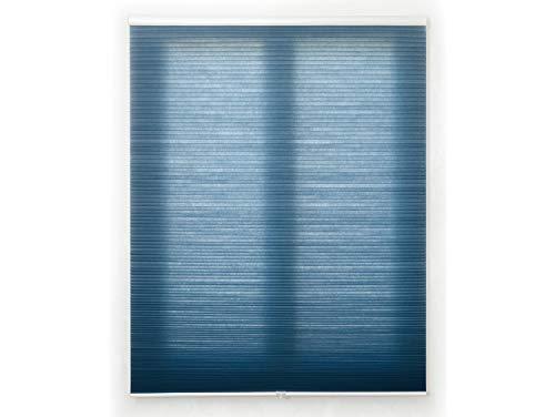 Blindecor Apidae Estor Plisado, Tejido Panal de Abeja, Disponible en más Colores y Tallas, Azul, 95 x 230 cm