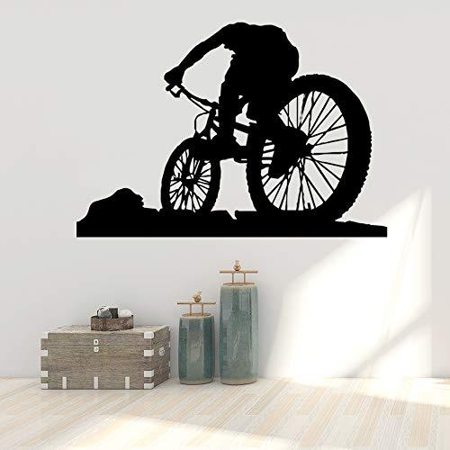 JXFM Muursticker voor op de fiets, decoratieve versieringen, kinderkamer, wanddecoratie, wandsticker, waterdicht behang, 57 cm x 82 cm