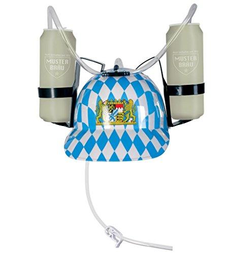 38278 Casque de déguisement avec losanges bavarois bierhalter, chapeau neuf/emballage d'origine