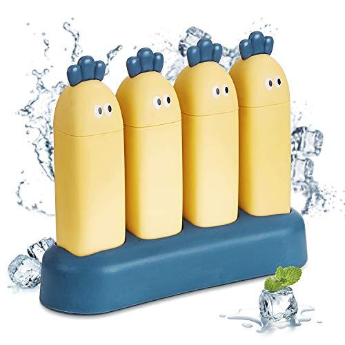 T-Buy Eisformen,EIS am Stiel Bereiter,DIY Hausgemachte Kreative Eisformen,EIS am Stiel Schimmel Set,Rettich EIS Am Stiel Form Kunststoff Eisform,mit Nicht Verschüttetem Deckel.