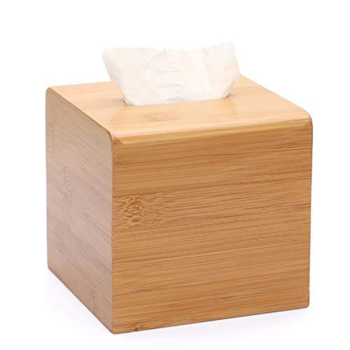 shelf Cubo de madera de bambú caja de pañuelos creativa para el hogar, caja simple para decoración del hogar, estante de almacenamiento de 11 × 11 × 10 cm