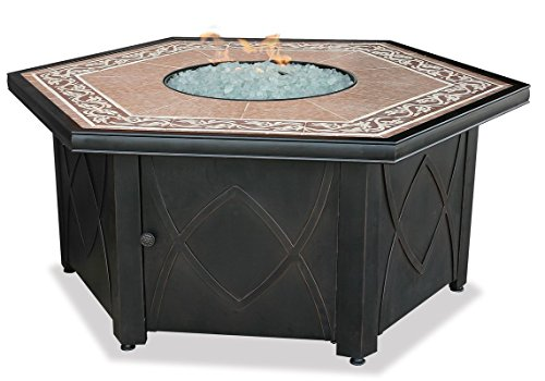 Discover Bargain Endless Summer, GAD1380SP, LP Gas Outdoor Firebowl with Decorative Tile Mantel
