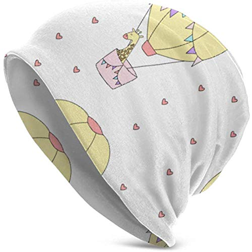 Maselia Beanie Hüte für Männer Frauen -ish Muster Giraffe Ballonherzen Beanie Cap