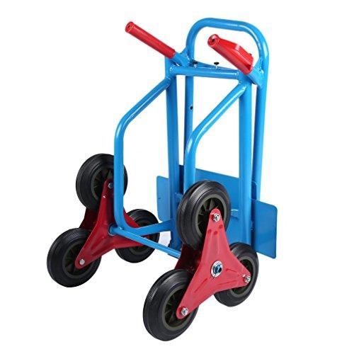 Sweepid Treppenkarre Sackkarre mit Räder klappbar Treppensteiger Handwagen Stapelkarre Karre Tragkraft 200kg