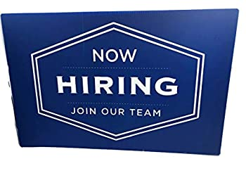 Generic  Now Hiring Business Sign- Hangable Help Wanted Sign  11'' x 17''  Inviting Professional Design Storefront Window Display- Durable Reusable Double-Sided Signs for Storefront Businesses