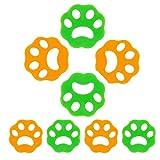 Yaclonq 8 Pack Rimozione Peli Di Animali Domestici Per Bucato, Rimozione Peli Per Lavatrice Rimozione Pelucchi Riutilizzabile Per Lavatrice, Rimozione Peli Per Rondella Di Pelo Di Animali Per Bucato