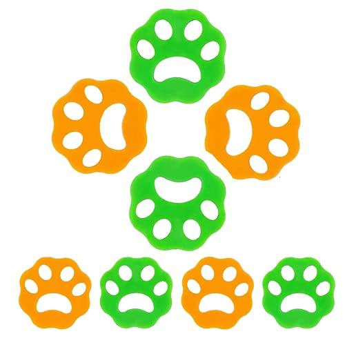 Yaclonq Paquete De 8 Removedores De Pelo Para Mascotas Para La Ropa, Para Lavar El Cabello, Para Lavar El Cabello, Para Lavadora, Removedor De Pelusa, Reutilizable, Arandela De Piel De Animal