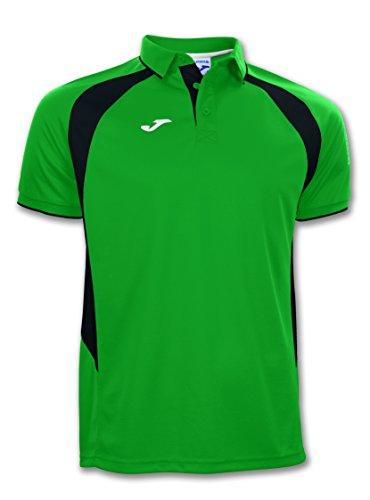 Joma Champion III Camiseta Polo, Hombres, Verde-Negro-451, 5XS