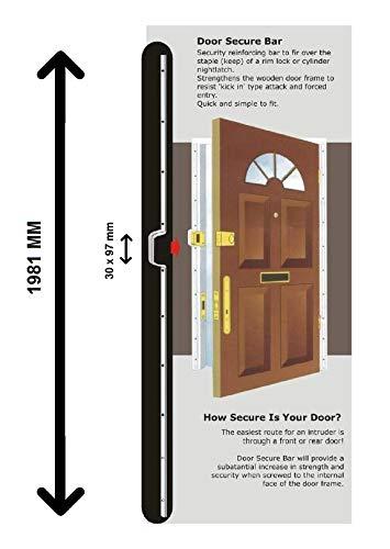 Londyn Bar/Birmingham Bar/Wzmocnienie drzwi Anty-Ram - 1981 mm - Stal nierdzewna - 1981 x 16 x 5 mm - 30 x 97 mm