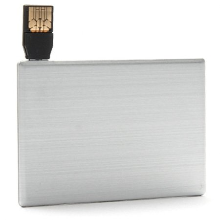 Aricona 8 GB USB Stick Kreditkarte - 2.0 Mini Card Flash Speicher – Metall Memory Stick im flachen Karten Format