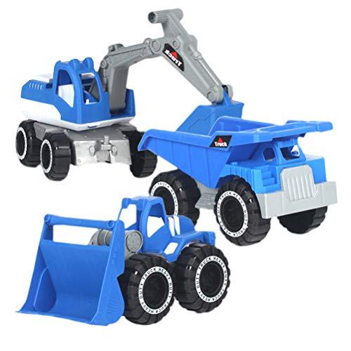 TOYANDONA 3pcs niños Camiones Juguetes de Arena Vehículos de Playa Juguete de Coches Vehículos de ingeniería Juguetes para niños pequeños