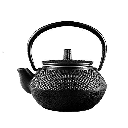 Fusioni Giapponese Ferro Teiera con Filtro in Acciaio Inox/Infusore for Una Persona, Antico Piccolo Puntino Tetsubin Tea Kettle Come Regalo Nero 300ML
