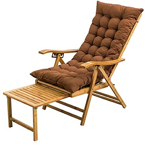 LLMY liegestuhl Tragbarer Bambusstuhl, Klappbare Campingliege, 5 Geschwindigkeit Einstellbar, Verlängerte Fußstütze, mit Kopfstütze, für Außenbalkon(Color:Style 1)