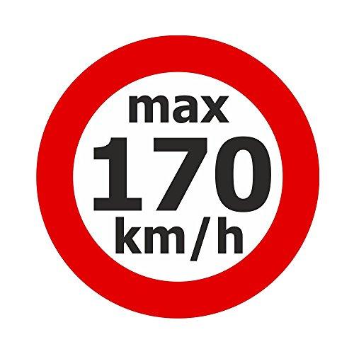 Adhesivo de velocidad máx. 170 km/h, 200 unidades.