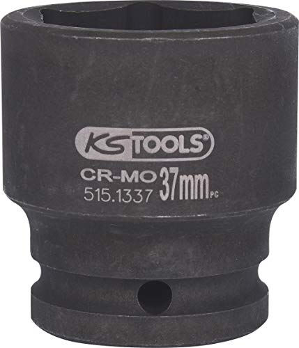 KS Tools 515.1337 Bussola Esagonale per Avvitatori ad Impulsi, Corta, 37 mm, 3/4'