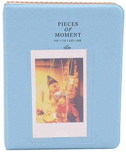 64 Pockets Instax Mini Photo Album for Fuji/Fujifilm Film 7s 8 8+ 9 25 26 50s 70 90 SP 1, Instant Camera Polaroid Z2300 Pic-300P Name Card Picture Accessories, Wedding Photos (1, Blue)