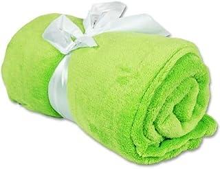 "Threadart Super Soft Ultra Plush Fleece Throw Blankets 50""x60""   Fuzzy Soft Cozy Microfiber   Lime Green   11 Colors Avail..."
