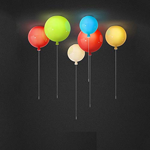 CDBGR Lámpara De Techo con Globos De Colores, Lámpara De Techo para Habitación Infantil Moderna, Luces De Techo LED, Lámpara De Dormitorio, Luces De Comedor De 25 Cm De Diámetroyellow